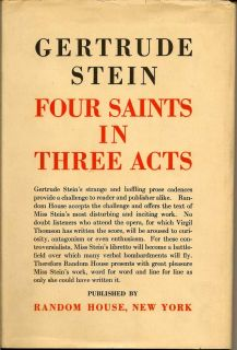 Four Saints In Three Acts. GERTRUDE STEIN.
