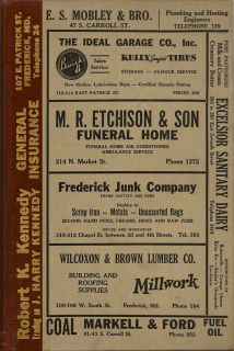 Frederick City Directory for 1938