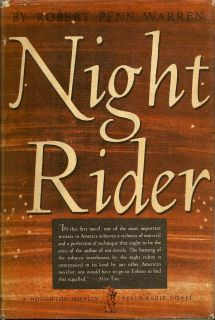 Night Rider. ROBERT PENN WARREN.