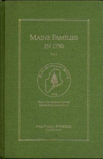 Maine Families in 1790. RUTH AND ANDERSON GRAY, JOSEPH CROOK