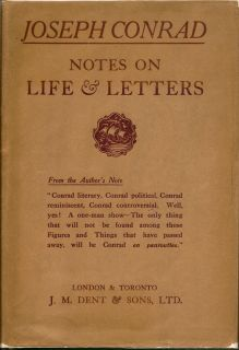 Notes On Life & Letters. JOSEPH CONRAD.