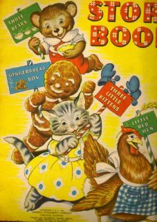 Story Book. The Three Bears, The Gingerbread Boy, Three Little Kittens and The Little Red Hen