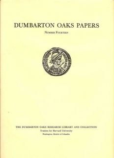 Dumbarton Oaks Papers Number Fourteen