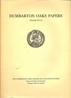 Dumbarton Oaks Papers Number Twenty and Dumbarton Oaks Papers Number Twenty: Index Of Authors...