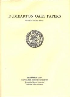 Dumbarton Oaks Papers Number Twenty-Eight