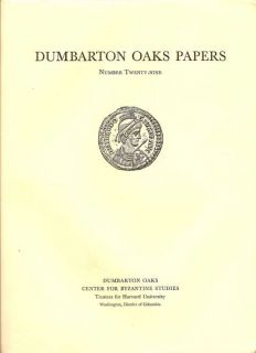 Dumbarton Oaks Papers Number Twenty-Nine