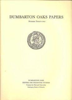 Dumbarton Oaks Papers Number Thirty-Two
