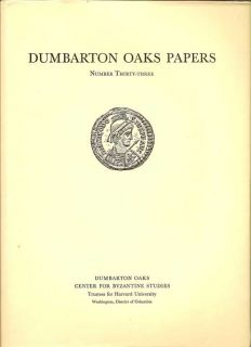 Dumbarton Oaks Papers Number Thirty-Three