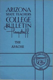 Arizona State Teachers College Bulletin, Volume 20, Number 1, Aug., 1939, The Apache