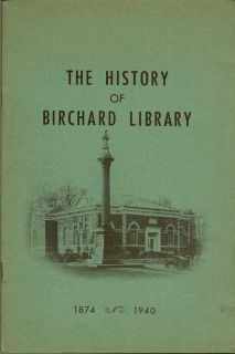 The History Of Birchard Library. CURTIS W. GARRISON