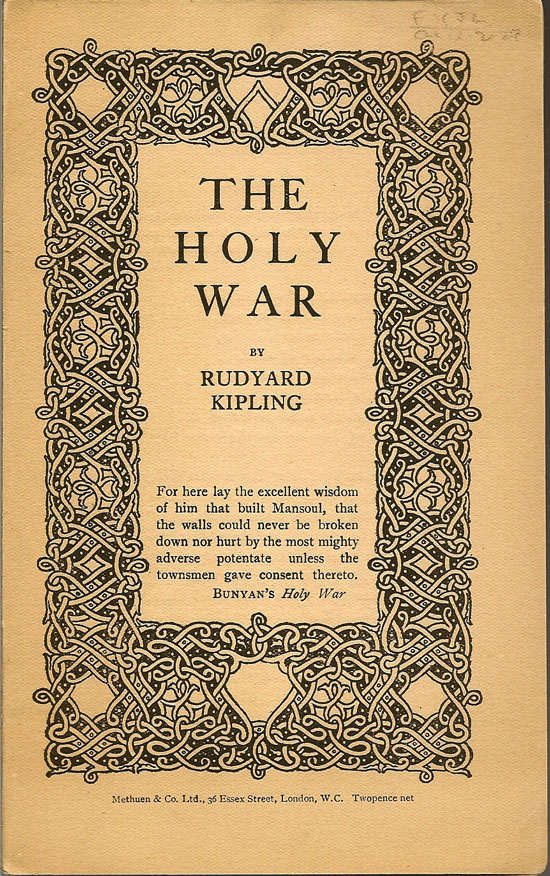 The Holy War. RUDYARD KIPLING