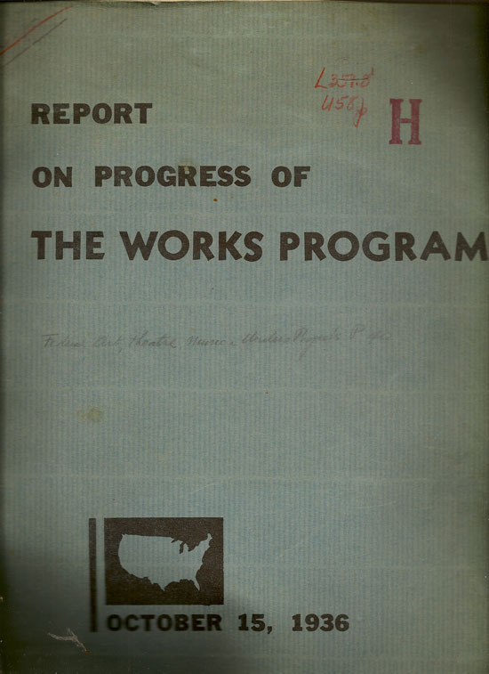 Report On Progress Of The Works Program