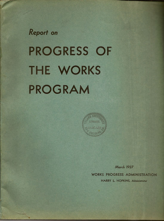 Report On Progress Of The Works Program March 1937