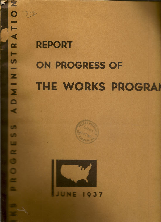 Report On Progress Of The Works Program June 1937