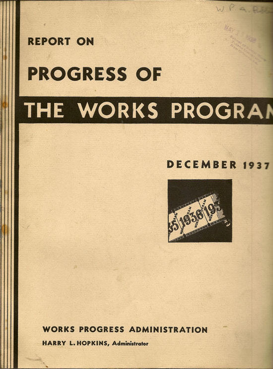 Report On Progress Of The Works Program December 1937